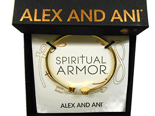 Alex and Ani Lotus Peace Petals Cuff Bracelet 14Kt Gold Plated ()