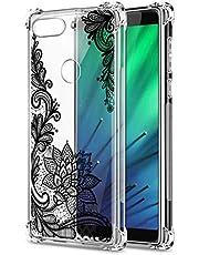 Oihxse Cristal Compatible con Samsung Galaxy J8 2018 Funda Transparente TPU Silicona Estuche Airbag Esquinas Anti-Choque Anti Rasguños Diseño Rosa Flower Caso (Flores B4)