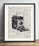 Vintage Camera (#2) Upcycled Dictionary Art Print 8x10