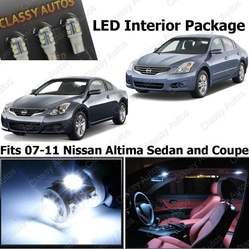 Classy Autos Nissan Altima White Interior LED Package (7 Pieces) (White Led Interior Package compare prices)