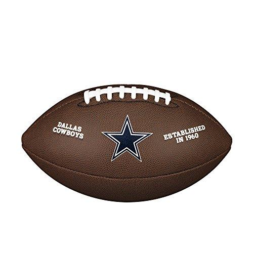 Wilson NFL Team Logo Composite Football, Official - Dallas (Leather Dallas Cowboys Football)