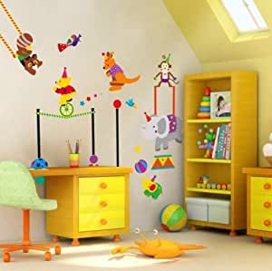 Instyledecal pvc desmontable pared a pared pared pegatina for Stickers pared ninos