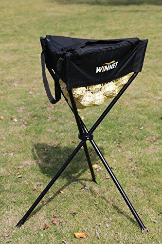 Winnet Zippered Baseball/Softball Ball Caddy, Removable Batting Practice Ball Holder with Carry Bag, Golf/Tennis/Table Tennis Pick Up Hopper