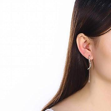 aad19af04 SHOUSHI Women's Western Fashion 925 Silver Wave Stud Earrings S925 Sterling  Silver Necklace Women Long Flower