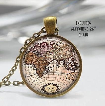 Amazon map necklace world map jewelry globe necklace map necklace world map jewelry globe necklace world globe pendant globe charm gumiabroncs Gallery