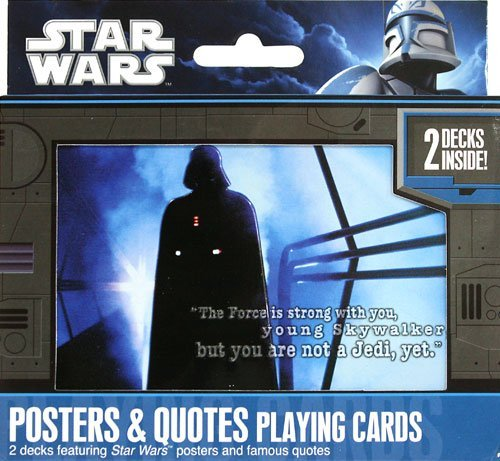 Star Wars Posters and Quotes Double Deck Playing Cards Tin