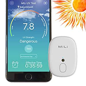 MiLi Skinmate Skin Care Portable Digital UV Tester Detector Meter and Tracker for iPhone and Android Smart Phones