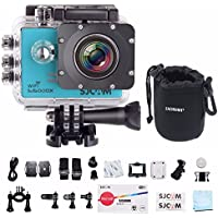 SJCAM SJ5000X Elite WiFi 4K 24fps 2K30fps Gyro Sports DV 2.0 LCD NTK96660 Diving 30m Waterproof Action Camera with EACHSHOT Cleaning Cloth - Blue
