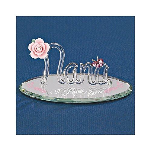 Nana Italian Charm - I Love You Nana Glass Figurine