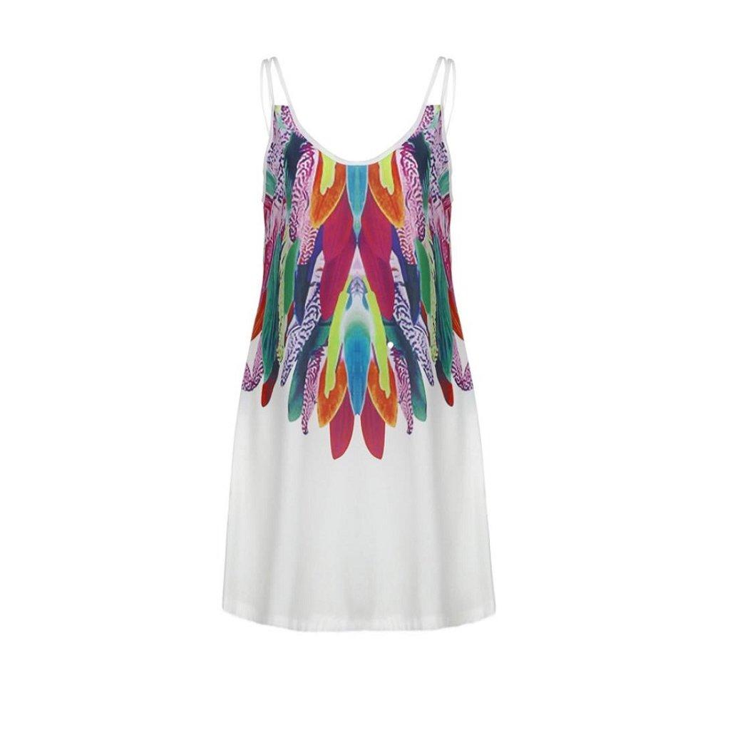 Women's Party Cocktail Dress, Changeshopping Boho Printed Summer Beach Sundress