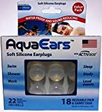 Aqua Ears® Soft Silicone Earplugs 18 Pair