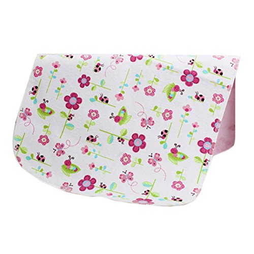 [1927 Inch] Lovely Waterproof Breathable Baby Urine Pad-Flower and Butterfly