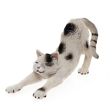 Schleich 13677 - Figura/ miniatura Gato, que se extiende: Amazon.es: Juguetes y juegos