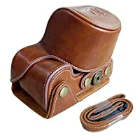 HelloPower Sony A6000 Camera Case Cover Leather Full Body Protective Camera Housing Case Camera Bag Cover Skin with Camera Neck Strap for Sony Alpha A6000 from HelloPower