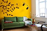 Wall Decal Sticker Bedroom Birds On The Tree Branch Beautiful Kids Girls ...
