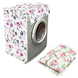 Autumn Water Floral Printed Sunscreen Case Washing Machine Cover Dust-Proof Cover Washer Waterproof Towel