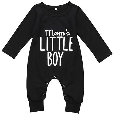 796f9693eb21 Amazon.com  Pudcoco Newborn Infant Baby Boys Long Sleeve Mom s ...