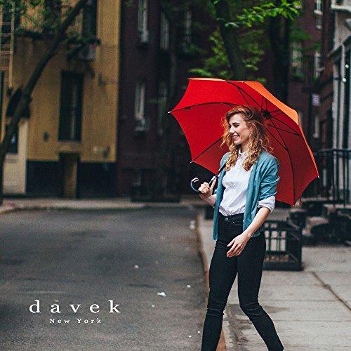 3cb14e571 Amazon.com: DAVEK ELITE UMBRELLA (Copper) - Quality Cane Umbrella with  Automatic Open, Strong & Windproof: Davek New York