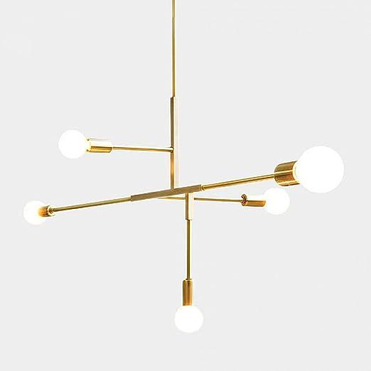 Modern metal pendant lighting hanging lamp ceiling chandelier with 5 modern metal pendant lighting hanging lamp ceiling chandelier with 5 lights gold finish fixture flush mount mozeypictures Gallery