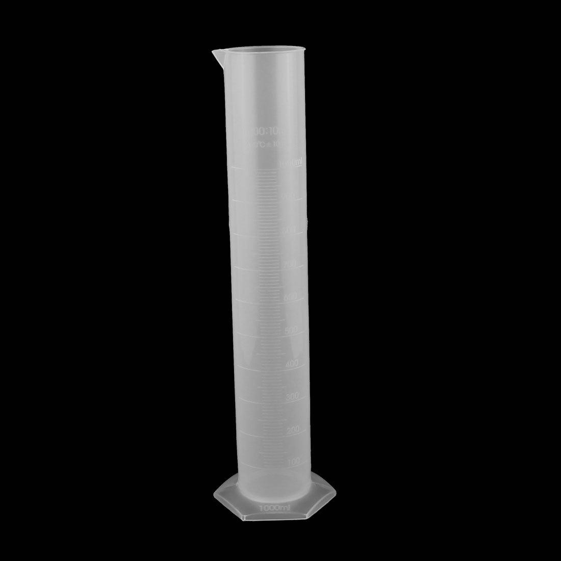 sourcingmap/® 1000mL Labor Sechskant Basis Fl/üssigkeit Messung Kunststoff Messzylinder DE de