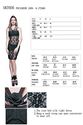 Mini Black Through Sexy Short Punk Womens See Summer Dresses Dresses Black R7vqOnv