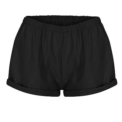 ABsolute Pantalones cortos Pantalones Cortos Mujer Talla Grande Cintura Alta sólidos de Mujer Pantalones Cortos de Mujer Sexy Pantalones Cortos Mujer Verano: Ropa y accesorios