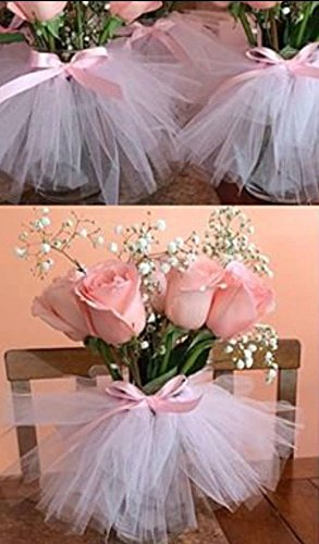 Originals Group Tutu Table Skirt,Baby Pink Tulle Tutu Table Skirt Decor, Birthday Event Wedding Party Decoration (Mini Pink Tutu Garland) by Originals Group (Image #4)