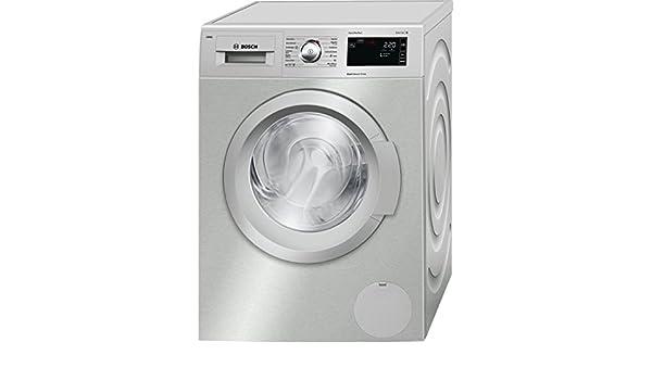 Bosch Serie 6 WAT2866XEE Independiente Carga frontal 8kg 1400RPM A+++-30% Acero inoxidable - Lavadora (Independiente, Carga frontal, Acero inoxidable, Izquierda, LED, Blanco): Amazon.es: Grandes electrodomésticos