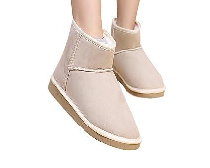 Minetom Donna Classic Mini Neve Stivali Autunno Inverno Calzature Female  Moda Flats Shoes ( Beige EU c2e5689f8b8