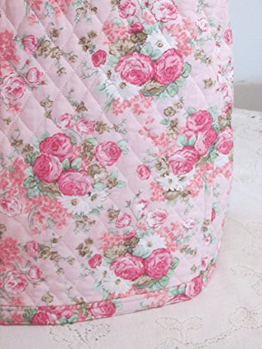 KitchenAid Mixer Cover - Shabby Chic Pink Roses Design with Paisley Reverse - Reversible Quilted Kitchen Appliance Dust Cover - Size and Pocket Options