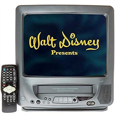 "Memorex 13"" TV/VCR Combo + 12 Disney VHS Movies"