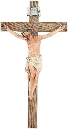 Roman Joseph Studio Jesus Christ 20 5 H Resin Stone Wall Cross Crucifix Home Kitchen