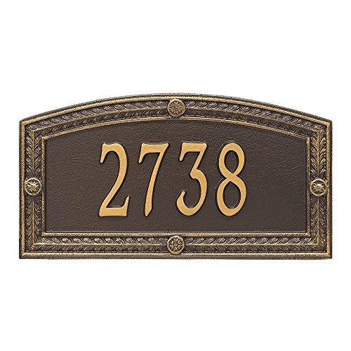 "Hamilton Standard Wall Address Plaque 17""W x 9""H (1 Line) (Wall Standard Plaque Address)"
