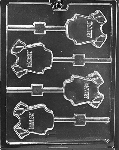 (Grandmama's Goodies B062 Baby Onesie Lollipop Chocolate Candy Soap Mold with Exclusive Molding Instructions)