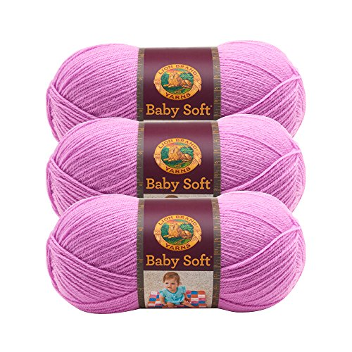 (3 Pack) Lion Brand Yarn 920-192 Babysoft Yarn, Orchid Multicolor