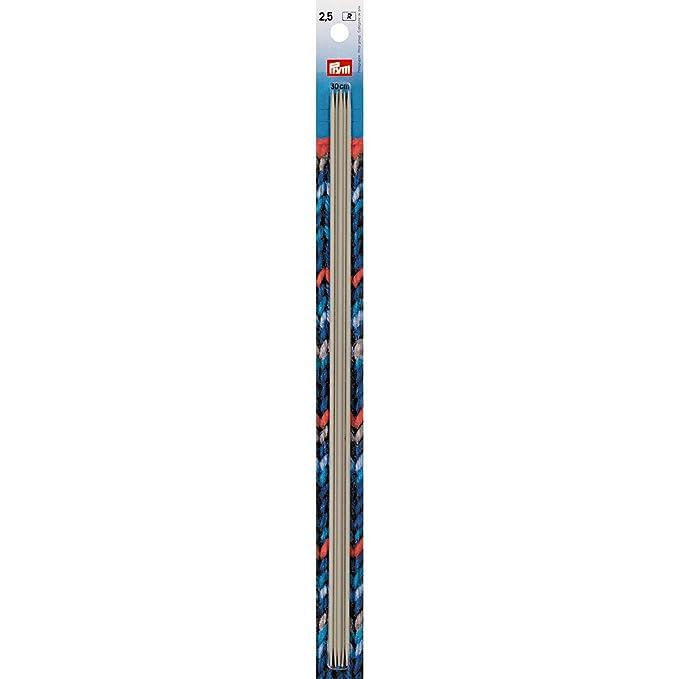 Stricknadeln 5 Strumpfstricknadeln Aluminium Gr 2,5 mm Länge 20 cm