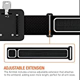 Trianium Armband for iPhone X 8 7 6 6S Plus, LG G6, Galaxy s9 + s8 s7 s6 Edge, Note 8 5 (Fit Otterbox Defender/Lifeproof case) [Water Resistant] ArmTrek Pro Sports Exercise Running Pouch Key Holder