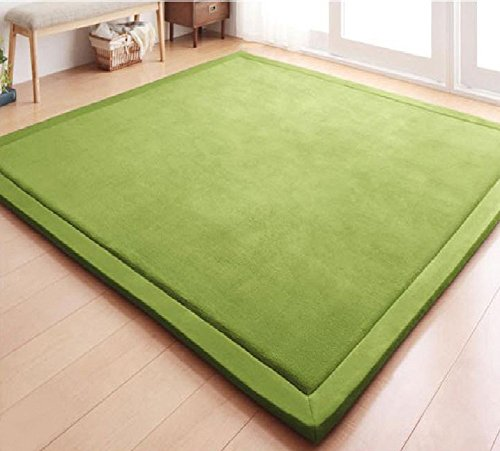 Japanese Thicken Coral Velvet Carpet Children Crawling Mat Tatami Mat Living Room Bedroom Mat Area Rug, MAXYOYO Soft Tatami Carpet Pad, 71 by 78 - Mall One Of Square Map