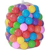 #5: Mazhashop 100pcs Colorful Ball Fun Ball Soft Plastic Ocean Ball Baby Kid Toy Swim Pit Toy(5.5CM)