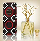 HOUZZ Interior Mango Mandarin Scented Reed Diffuser with Decorative Bamboo Reed Sticks – All Natural – No Sulfates or Parabens – Made in the USA