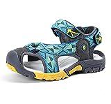 JACKSHIBO Boy's Girl's Outdoor Athletic Closed-Toe Strap Sandals (Toddler/Little Kid/Big Kid)