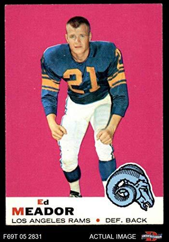 1969 Topps # 56 Ed Meador Los Angeles Rams (Football Card) Dean's Cards 5 - EX Rams
