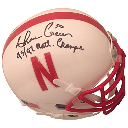 Ahman Green Autographed Nebraska Cornhuskers Signed White Football Mini Helmet CHAMPS JSA COA