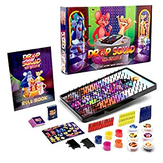DROP SQUAD Fun Board Game for Little Kids, Any Age Teens and Adults | Best Kid-Friendly Board Games for a New Family Night Activity | Ages 5 6 7 8 9 10 11 12 and up | with Extras