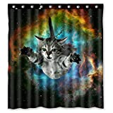"Space Cat Water-Proof Polyester Fabric (66"" x 72"" ) Shower Curtain"