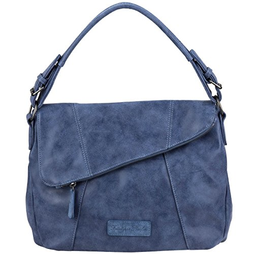 Fritzi aus Preußen Irune Vintage Bolso de hombro 35 cm Azul