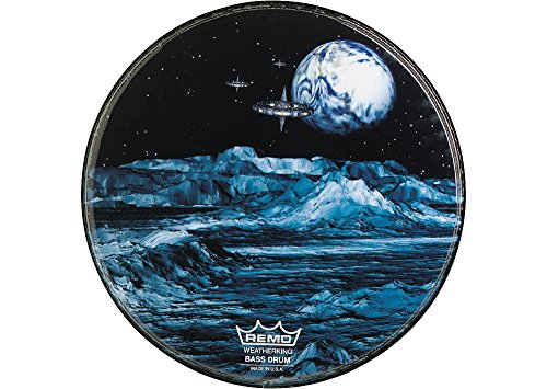 Remo Custom Graphic Blue Moon Resonant Bass Drum Head 22 in. ()