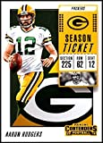 2018 Panini Contenders Season Tickets #63 Aaron Rodgers Green Bay Packers NFL Football Trading Card