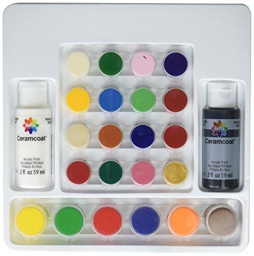 Delta Ceramcoat Acrylic Paint (Delta Creative Basic Super Pack Paint Set, 029400056 (24 Colors))