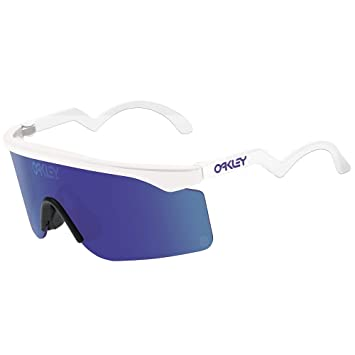 oakley sunglasses 1990s  oakley razor blade heritage collection sunglasses white/violet irid, one size men's